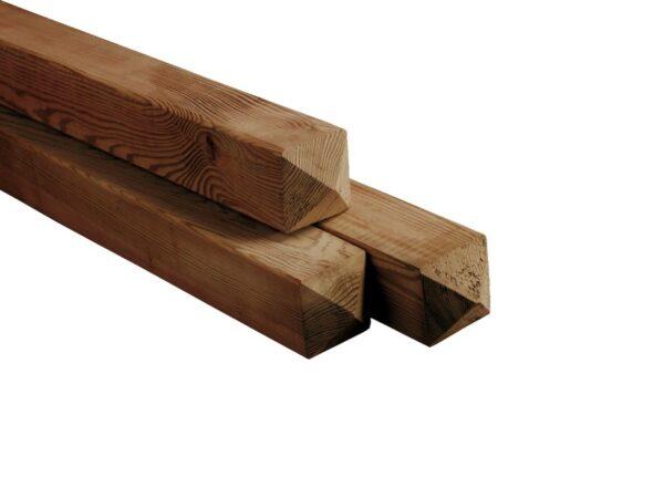 Paal vierkant 8,8×8,8cm Nobifix geïmpregneerd