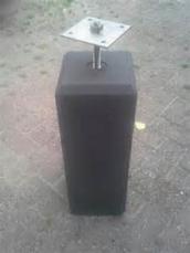 Betonpoer recht antracietkleurig 15x15xH60cm