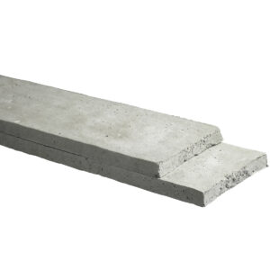 Onderplaat beton 2 zijden glad 184cm Lichtgrijs