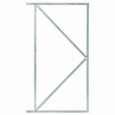 Stalen poortframe voor brede poort