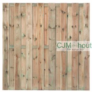Oudenbosch Tuinscherm 15-planks Recht 180x180cm