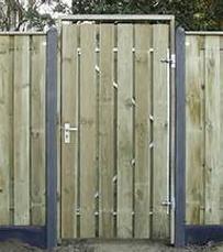 Kozijnregel voor poort met frame 90 t/m 110cm breed