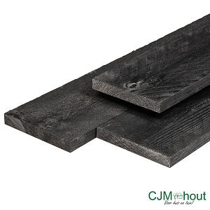 Plank gedompeld zwart 1,6x14x180cm