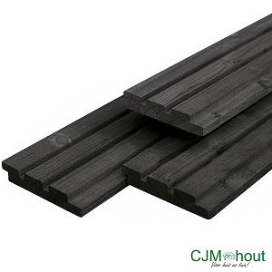 Triple profiel zwart 2,2×14,0x300cm