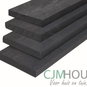 Plank gedompeld zwart 1,6×14