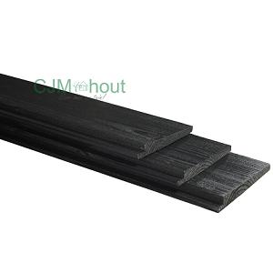 Zweeds rabat zwart gespoten 1,0-2,0×14,5x250cm