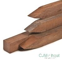 CJM Scherm met 3 dwarsplanken Recht 180x180cm