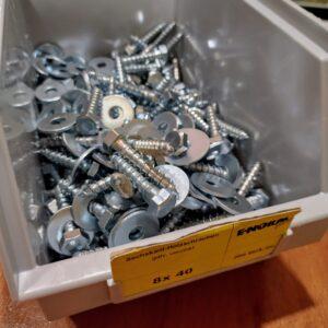 Houtdraadbout zeskantkop verzinkt met sluitring