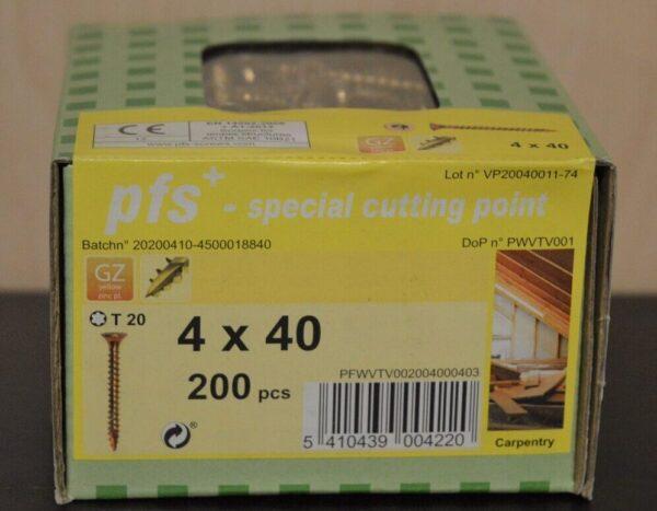PFS+ houtschroef VZK-T geelverzinkt