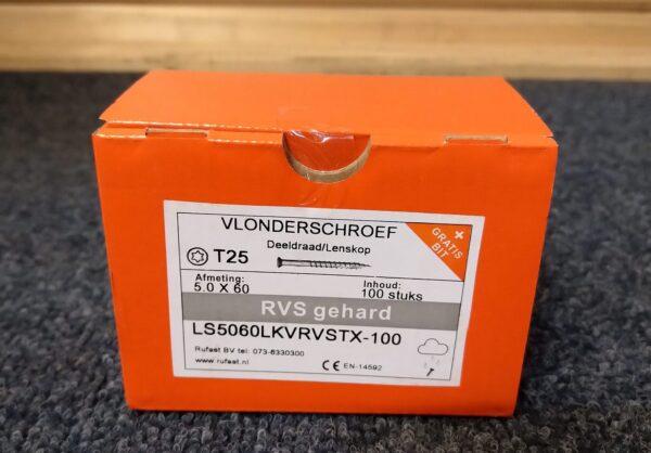 Vlonderschroef Gehard RVS Torx 5,0