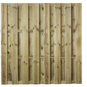 Hasselt Tuinscherm 15-planks Recht 180x180cm