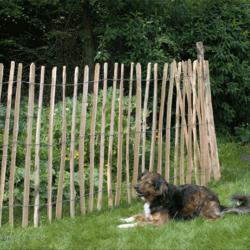 Landelijk leven met kastanjehout